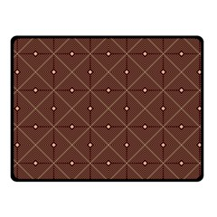 Coloured Line Squares Plaid Triangle Brown Line Chevron Fleece Blanket (small) by Alisyart