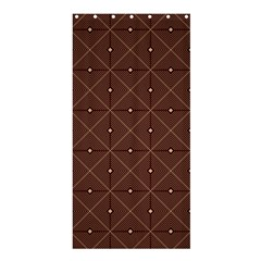 Coloured Line Squares Plaid Triangle Brown Line Chevron Shower Curtain 36  X 72  (stall)