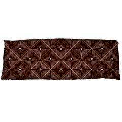 Coloured Line Squares Plaid Triangle Brown Line Chevron Body Pillow Case (dakimakura)