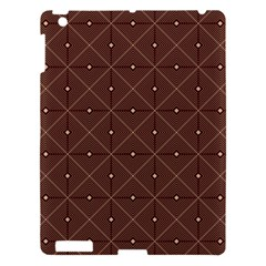Coloured Line Squares Plaid Triangle Brown Line Chevron Apple Ipad 3/4 Hardshell Case by Alisyart