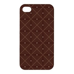 Coloured Line Squares Plaid Triangle Brown Line Chevron Apple Iphone 4/4s Premium Hardshell Case by Alisyart