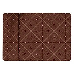 Coloured Line Squares Plaid Triangle Brown Line Chevron Samsung Galaxy Tab 10 1  P7500 Flip Case by Alisyart