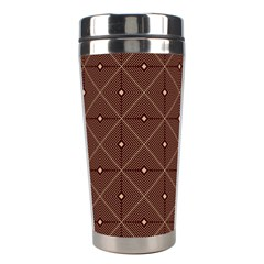Coloured Line Squares Plaid Triangle Brown Line Chevron Stainless Steel Travel Tumblers by Alisyart