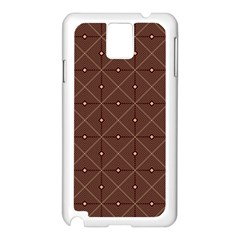 Coloured Line Squares Plaid Triangle Brown Line Chevron Samsung Galaxy Note 3 N9005 Case (white) by Alisyart