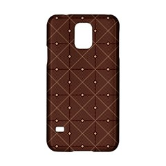 Coloured Line Squares Plaid Triangle Brown Line Chevron Samsung Galaxy S5 Hardshell Case
