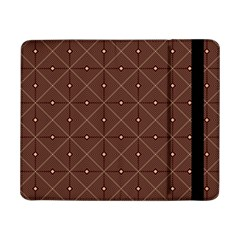 Coloured Line Squares Plaid Triangle Brown Line Chevron Samsung Galaxy Tab Pro 8 4  Flip Case by Alisyart