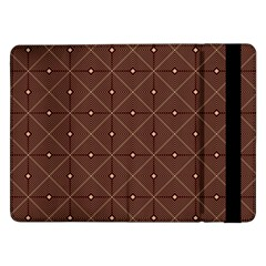 Coloured Line Squares Plaid Triangle Brown Line Chevron Samsung Galaxy Tab Pro 12 2  Flip Case by Alisyart