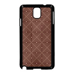 Coloured Line Squares Plaid Triangle Brown Line Chevron Samsung Galaxy Note 3 Neo Hardshell Case (black)