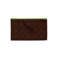 Coloured Line Squares Plaid Triangle Brown Line Chevron Cosmetic Bag (xs) by Alisyart