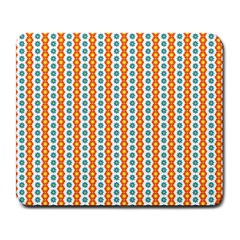 Sunflower Orange Gold Blue Floral Large Mousepads by Alisyart