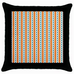 Sunflower Orange Gold Blue Floral Throw Pillow Case (black) by Alisyart