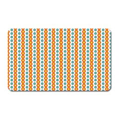Sunflower Orange Gold Blue Floral Magnet (rectangular)