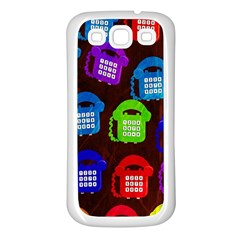 Grunge Telephone Background Pattern Samsung Galaxy S3 Back Case (white) by Amaryn4rt