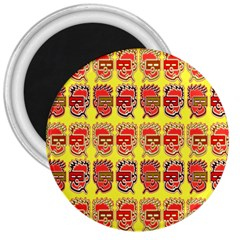 Funny Faces 3  Magnets by Amaryn4rt