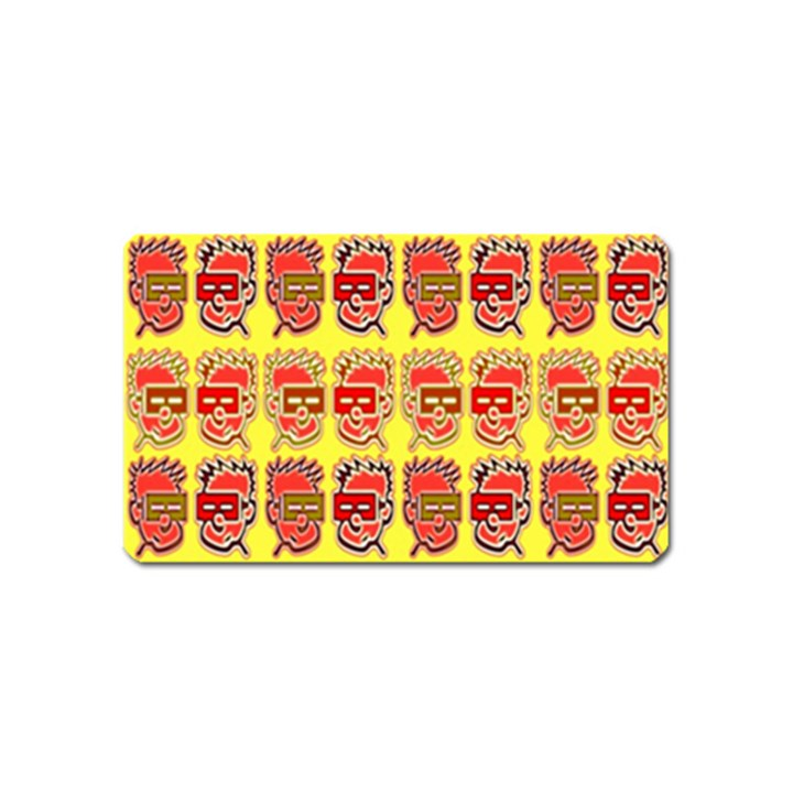 Funny Faces Magnet (Name Card)