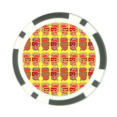 Funny Faces Poker Chip Card Guard by Amaryn4rt