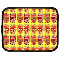 Funny Faces Netbook Case (xl)  by Amaryn4rt