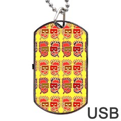 Funny Faces Dog Tag Usb Flash (two Sides) by Amaryn4rt
