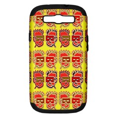 Funny Faces Samsung Galaxy S Iii Hardshell Case (pc+silicone) by Amaryn4rt