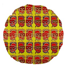 Funny Faces Large 18  Premium Round Cushions by Amaryn4rt