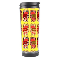 Funny Faces Travel Tumbler by Amaryn4rt