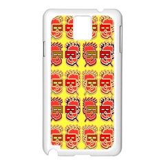 Funny Faces Samsung Galaxy Note 3 N9005 Case (white) by Amaryn4rt