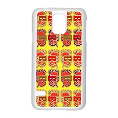 Funny Faces Samsung Galaxy S5 Case (white) by Amaryn4rt