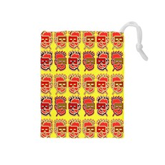 Funny Faces Drawstring Pouches (medium)  by Amaryn4rt
