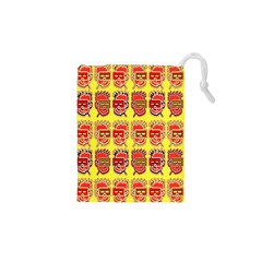 Funny Faces Drawstring Pouches (xs)  by Amaryn4rt