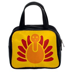 Animals Bird Pet Turkey Red Orange Yellow Classic Handbags (2 Sides) by Alisyart