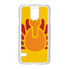 Animals Bird Pet Turkey Red Orange Yellow Samsung Galaxy S5 Case (white)