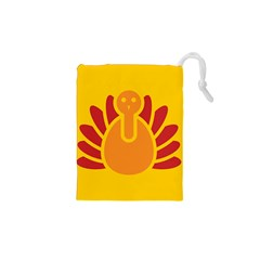 Animals Bird Pet Turkey Red Orange Yellow Drawstring Pouches (xs)
