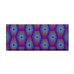 Red Blue Bee Hive Pattern Cosmetic Storage Cases by Amaryn4rt