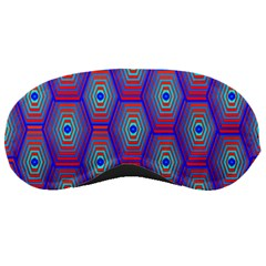 Red Blue Bee Hive Pattern Sleeping Masks by Amaryn4rt