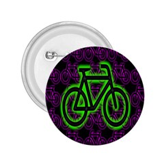 Bike Graphic Neon Colors Pink Purple Green Bicycle Light 2 25  Buttons by Alisyart
