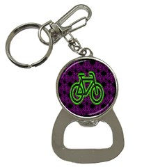 Bike Graphic Neon Colors Pink Purple Green Bicycle Light Button Necklaces
