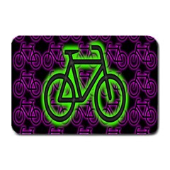 Bike Graphic Neon Colors Pink Purple Green Bicycle Light Plate Mats