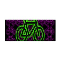 Bike Graphic Neon Colors Pink Purple Green Bicycle Light Cosmetic Storage Cases by Alisyart