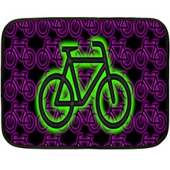 Bike Graphic Neon Colors Pink Purple Green Bicycle Light Fleece Blanket (mini) by Alisyart