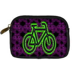 Bike Graphic Neon Colors Pink Purple Green Bicycle Light Digital Camera Cases by Alisyart