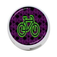 Bike Graphic Neon Colors Pink Purple Green Bicycle Light 4 Port Usb Hub (one Side) by Alisyart