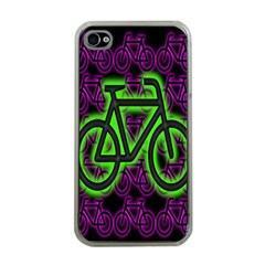Bike Graphic Neon Colors Pink Purple Green Bicycle Light Apple Iphone 4 Case (clear) by Alisyart
