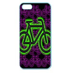 Bike Graphic Neon Colors Pink Purple Green Bicycle Light Apple Seamless Iphone 5 Case (color) by Alisyart