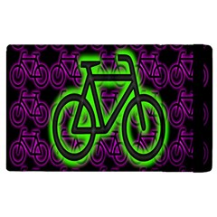 Bike Graphic Neon Colors Pink Purple Green Bicycle Light Apple Ipad 2 Flip Case by Alisyart