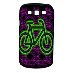 Bike Graphic Neon Colors Pink Purple Green Bicycle Light Samsung Galaxy S Iii Classic Hardshell Case (pc+silicone)