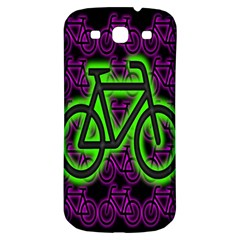 Bike Graphic Neon Colors Pink Purple Green Bicycle Light Samsung Galaxy S3 S Iii Classic Hardshell Back Case