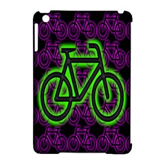 Bike Graphic Neon Colors Pink Purple Green Bicycle Light Apple Ipad Mini Hardshell Case (compatible With Smart Cover)