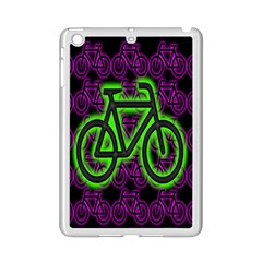 Bike Graphic Neon Colors Pink Purple Green Bicycle Light Ipad Mini 2 Enamel Coated Cases