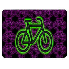 Bike Graphic Neon Colors Pink Purple Green Bicycle Light Samsung Galaxy Tab 7  P1000 Flip Case