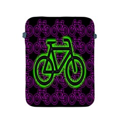 Bike Graphic Neon Colors Pink Purple Green Bicycle Light Apple Ipad 2/3/4 Protective Soft Cases by Alisyart